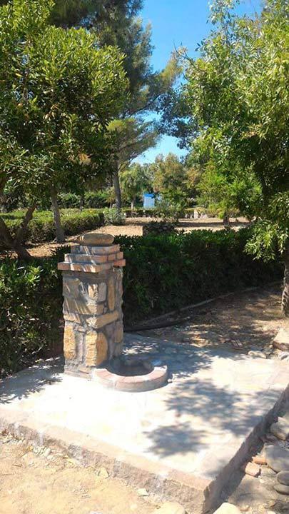 Fontana nella Villa comunale di Rocca Imperiale