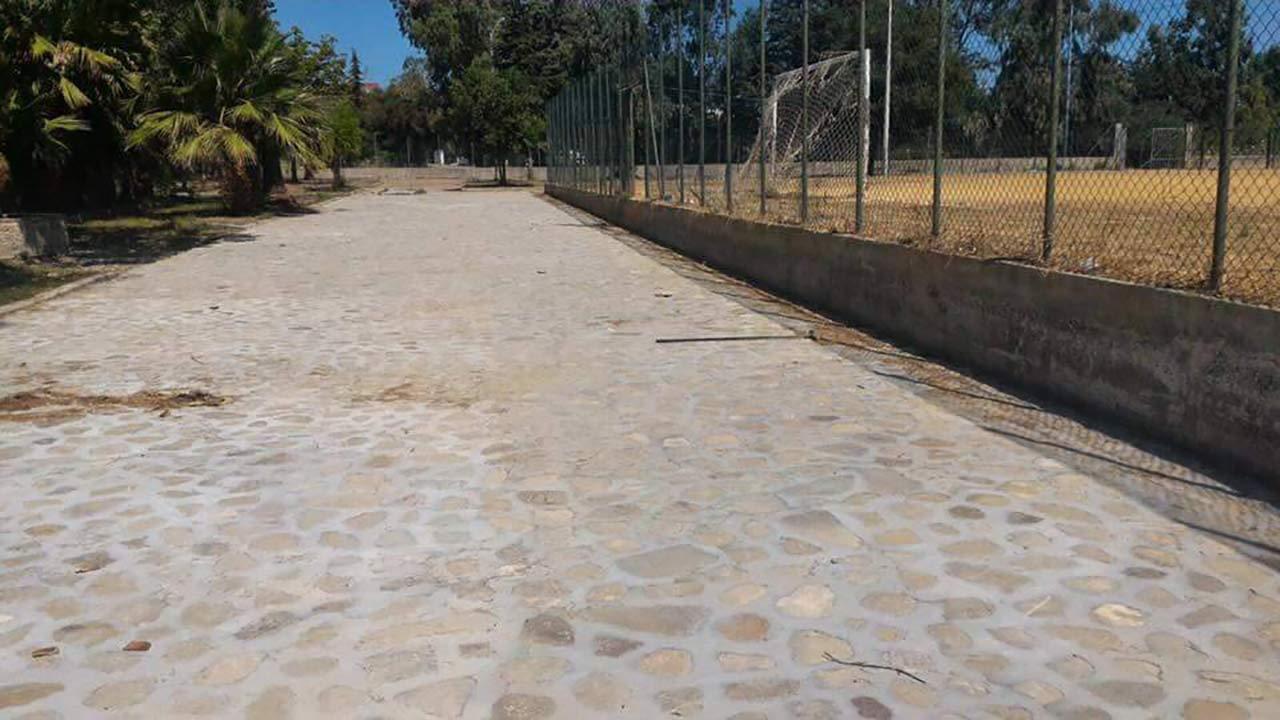 campo da calcio nella Villa Comunale di Rocca Imperiale